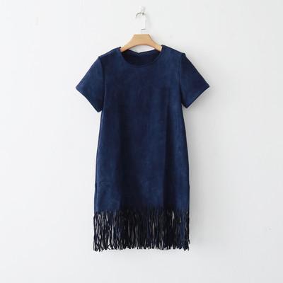 Темно-синее платье под замшу на 46-48 во Владивостоке