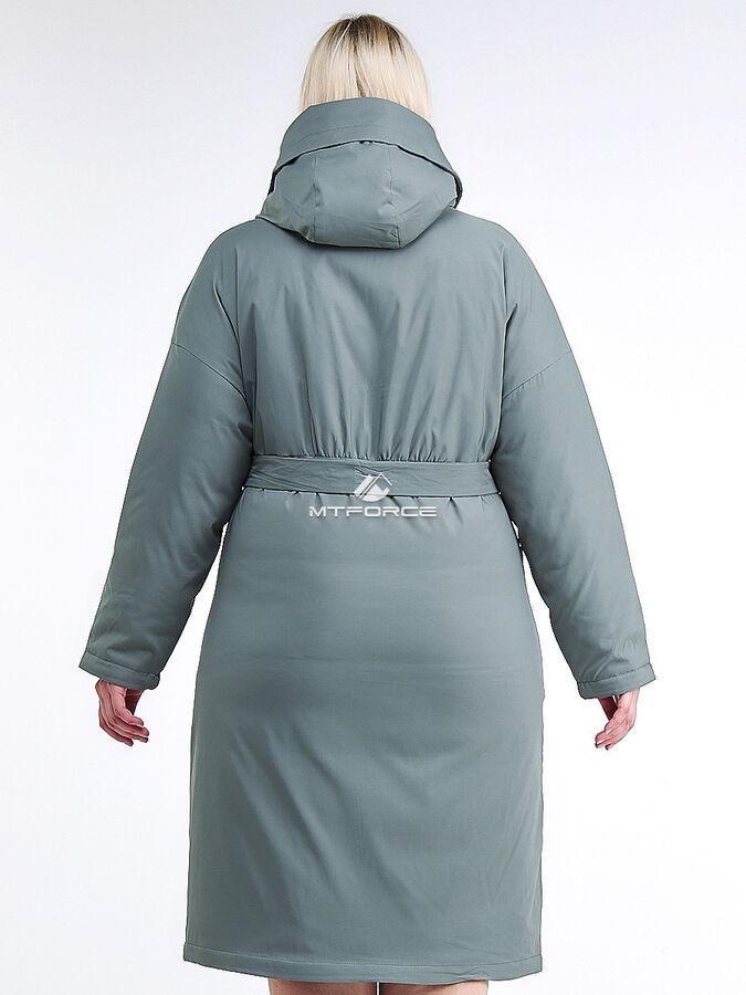 Женская зимняя классика куртка большого размера цвета хаки