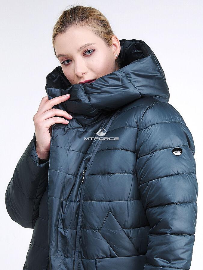 Женская зимняя классика куртка с капюшоном болотного цвета