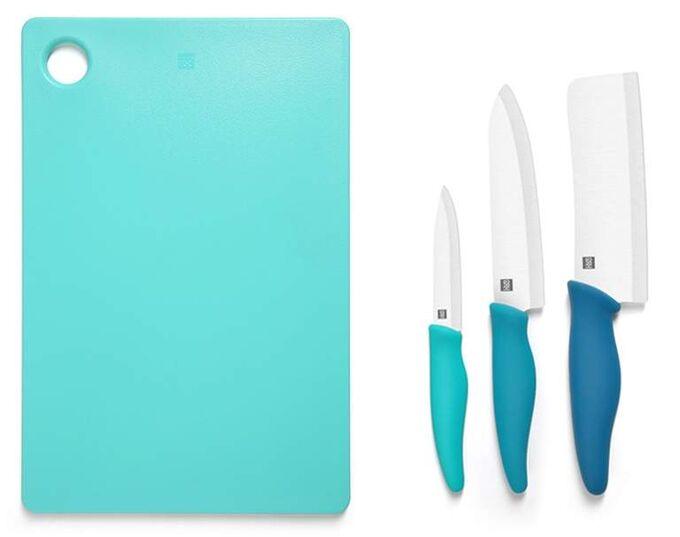 Набор керамических ножей с керамической доской Xiaomi HuoHou