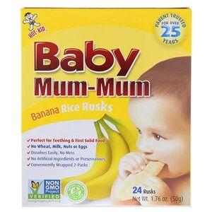 Hot Kid, Baby Mum-Mum, оригинальные рисовые галеты, 24 галет, 50 г