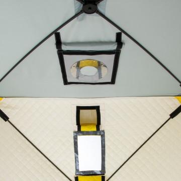 Палатка зимняя утепл. Куб 1,5х1,5 yellow/gray Helios (HS-ISCI-150YG)