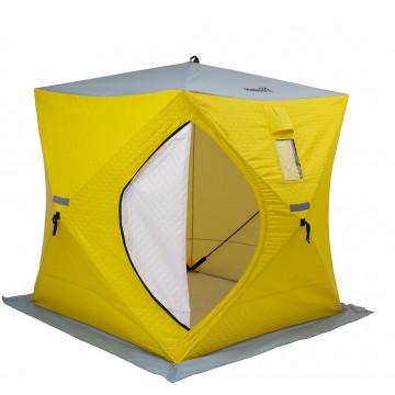 Палатка зимняя утепл. Куб 1,8х1,8 yellow/gray Helios (HS-ISCI-180YG)