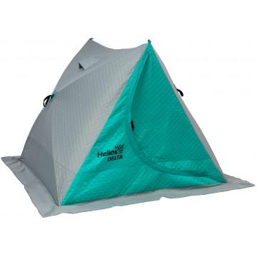Палатка зимняя двускатная DELTA Комфорт biruza/gray Helios (HS-ISDC-BG)