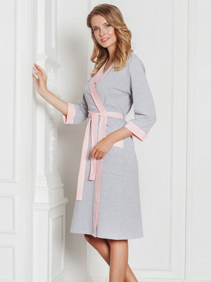 Комплект Monika персик-серый