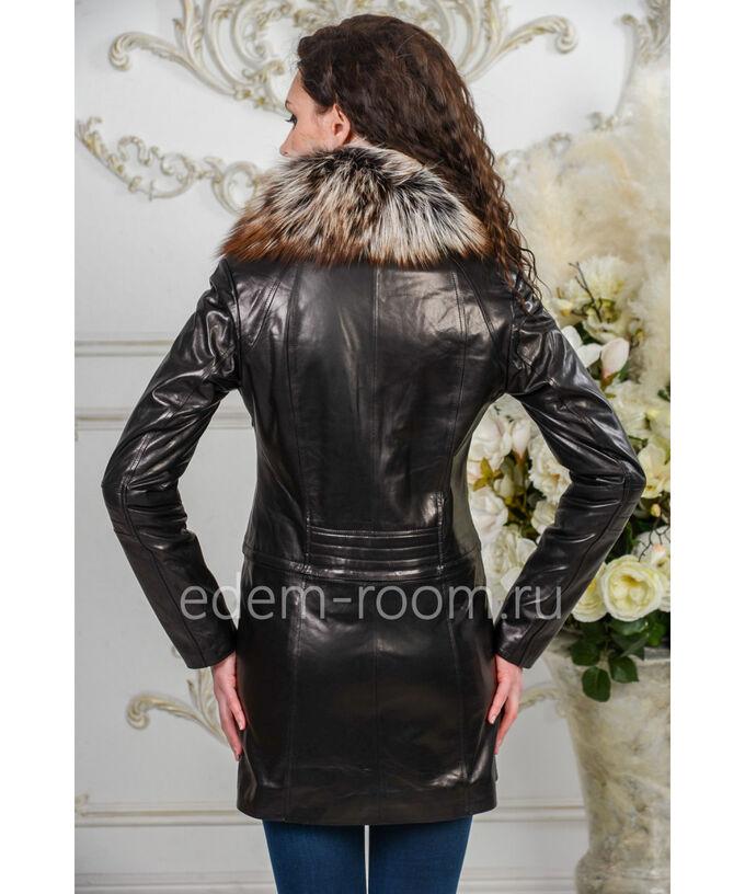 Демисезонный кожаный плащ - 2020Артикул: AL-19028-80-L