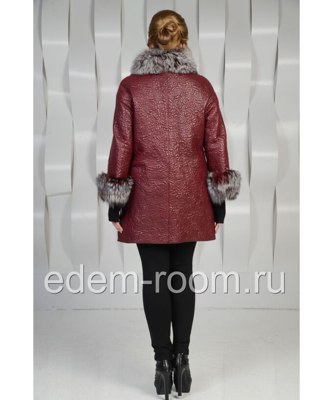 Осенний плащ украшенный мехомАртикул: T-15016-R