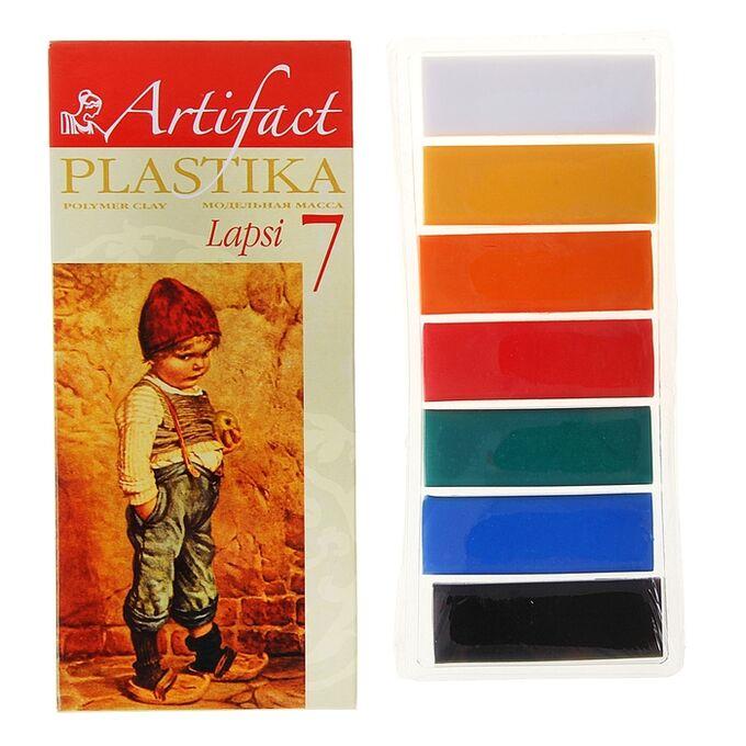 Пластика - полимерная глина набор LAPSI 7 классических цветов 140г