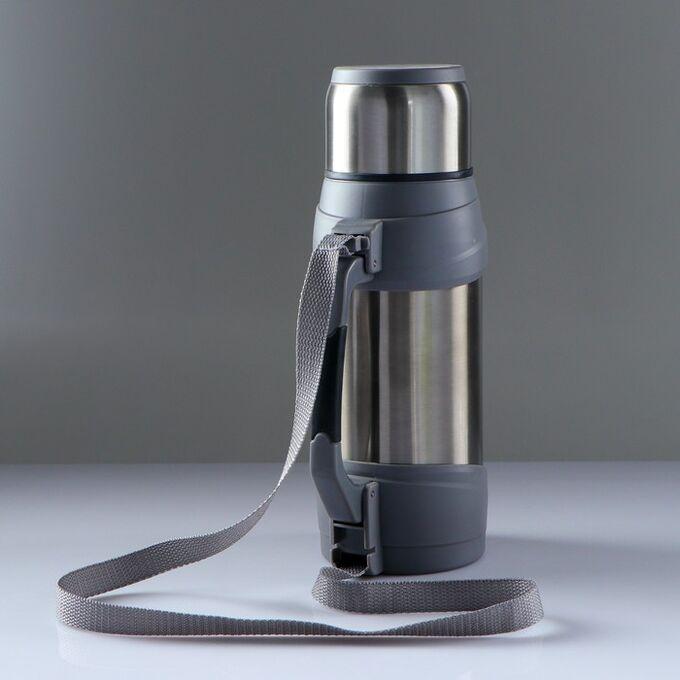 """Термос """"Сайпрес"""", 1.75 л, с ремнем на катушке, 20 ч, 16х23 см, микс 4468190"""