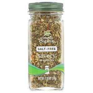 Simply Organic, Приправа без соли, пикантная, 57 г