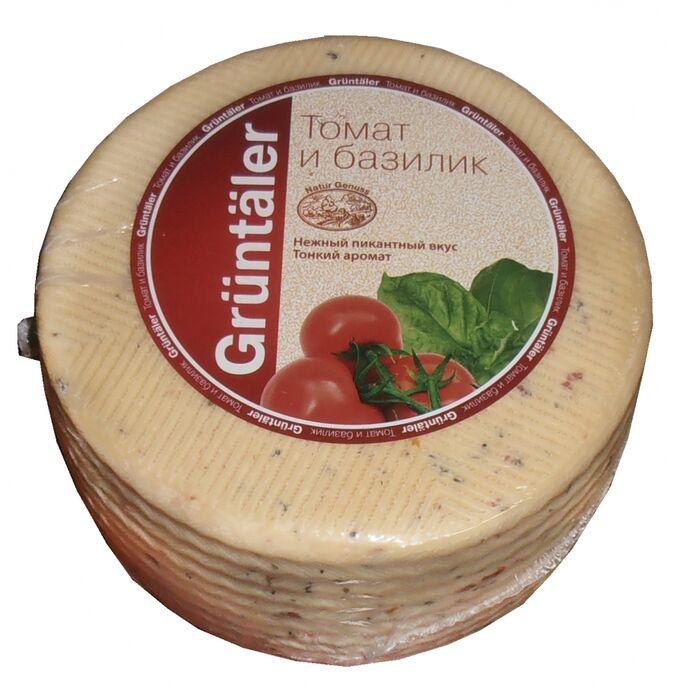 Сыр Грюнталер с томатом и базиликом 50%