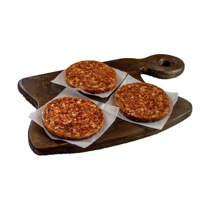 Котлеты для бургера из говядины, 5шт по 100г, для жарки, замороженные, 500г