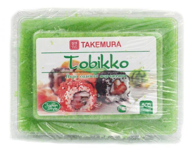 Икра Тобико Зеленая 500 гр Takemura