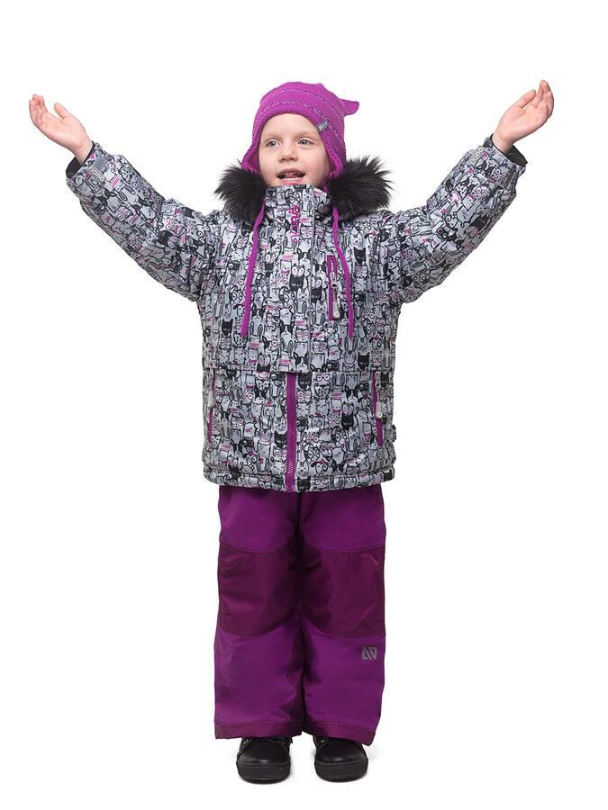 Костюм зимний для девочки (куртка +брюки)