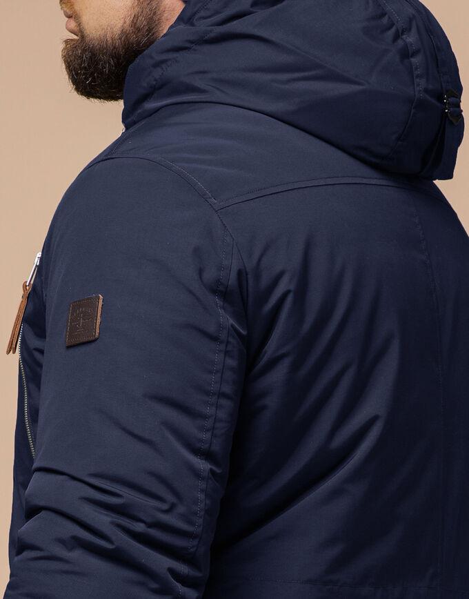Синяя мужская зимняя парка трендовая модель 31015