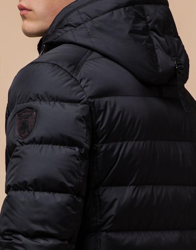 Брендовая черная куртка зимняя модель 43649