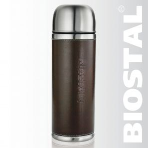 """Термос Biostal """"Охота"""" NYP-1000P 1,0л (узкое горло,кож.вст.)"""