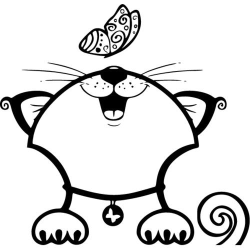 рисунки черно белые игрушки для кошек френч