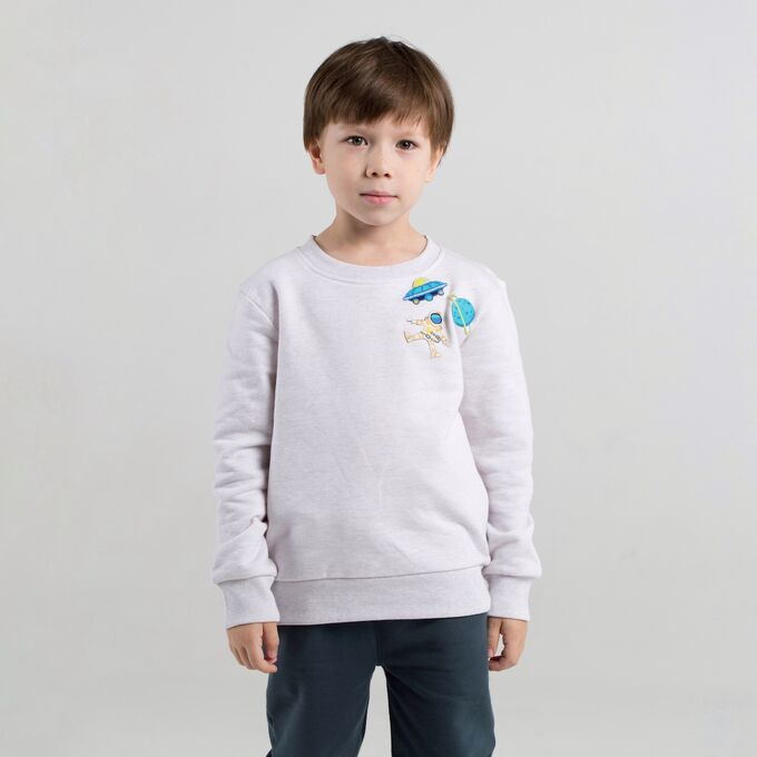 Джемпер для мальчика, бежевый меланж