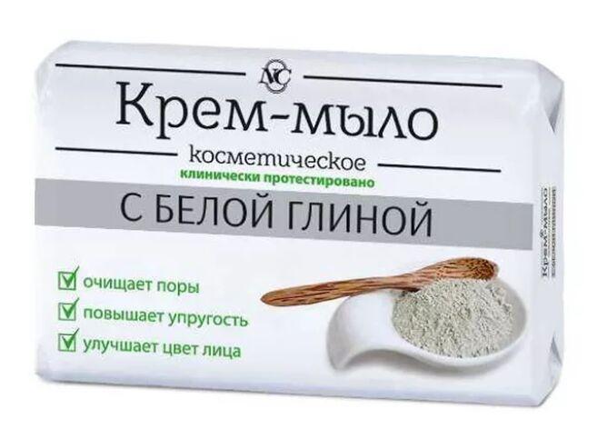 """Крем-мыло НК Косметическое т/т с белой глиной марки """"О"""" 90 г"""