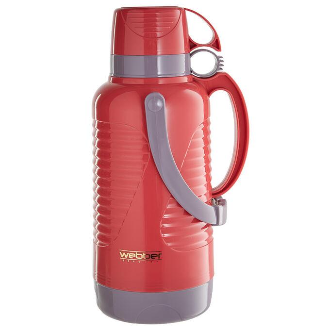 Термос 3,2л Webber 42002/8S розовый с коричневым