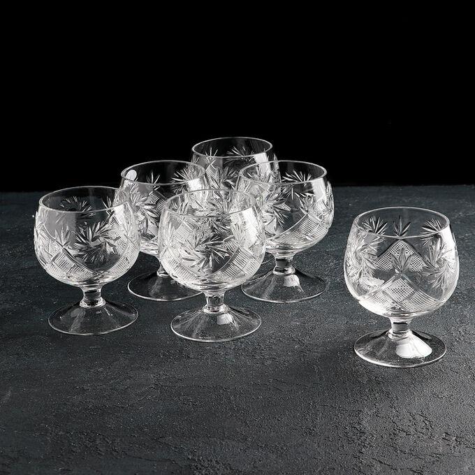 Набор бокалов для коньяка НЕМАН «Мельница», 6 шт, 200 мл, хрусталь