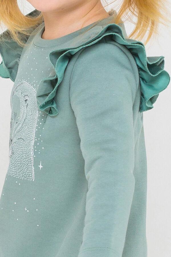 Платье Цвет: серо-зеленый к217; Вид изделия: Трикотажные изделия; Полотно: Футер-петля; Рисунок: серо-зеленый к217; Сезон: Осень-Зима; Коллекция: №217 Лесная сказка Платье из однотонного футера. Горл