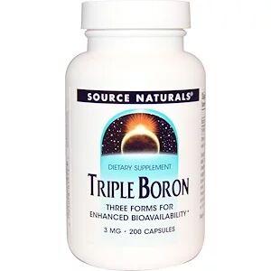 Source Naturals, Тройной бор, 3 мг, 200 кап