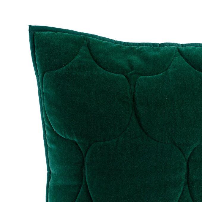 Чехол на подушку бархатный Хвойное утро Цвет зеленый Russian North, 45х45 см