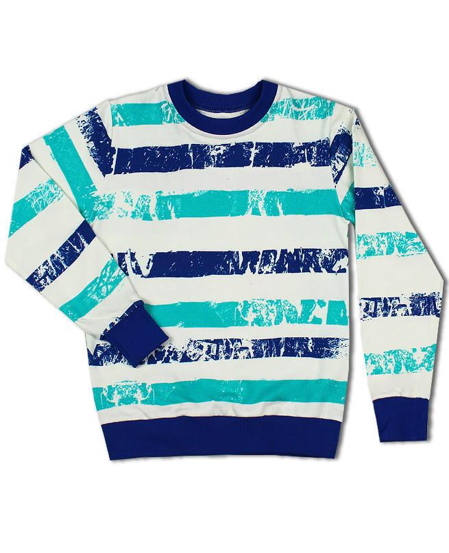 Джемпер в полоску для мальчика Цвет: полоска синяя