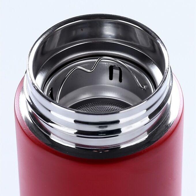 """Термос-заварочник """"Мастер К."""", 500 мл, сохраняет тепло 10 часов, красный"""