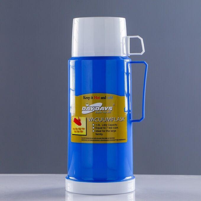 """Термос """"Классик"""" с 1 кружкой и 1 чашкой,  1 л, 13х29 см, микс 551722"""