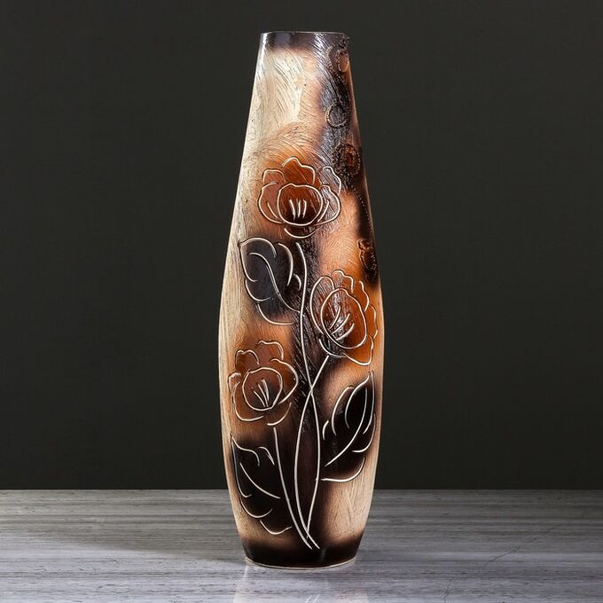 """Ваза напольная """"Катюша"""" под шамот, цветы, 63 см, керамика"""