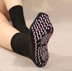 Самонагревающиеся, турмалиновые носки, черные