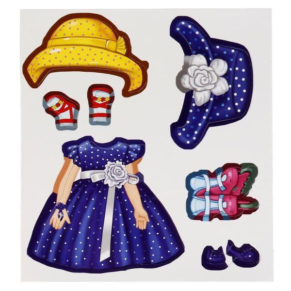 4690590140383 (7) Игра-одевайка на магнитах. Одень куклу. Шатенка Анна. в кор. Умные игры в кор.7шт