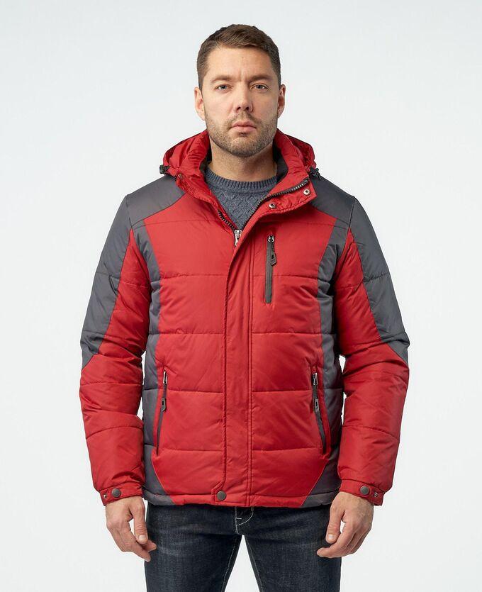. Синий / Темно-серый; Светло-серый / Темно-серый; Красный / Темно-серый;    Стильный, комфортный пуховик, изготовлен из качественной ветрозащитной ткани с водоотталкивающим покрытием. Двухсторонняя