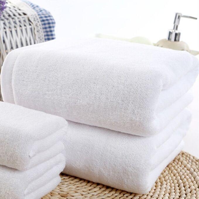 Полотенце махровое белое для гостиниц 40х70