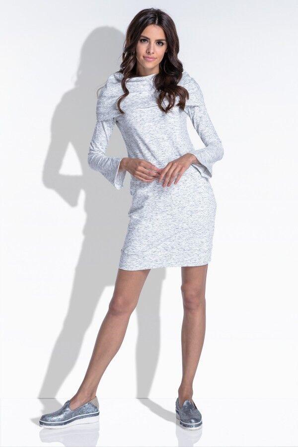 1к Платье Fobya f438 экрю  Состав: 85% хлопок, 15% эластан