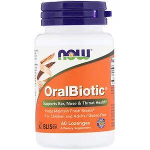 Now Foods, OralBiotic, 60 пастилок