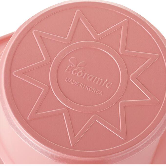 Набор кастрюль Ecoramic (розовый) с каменным покрытием