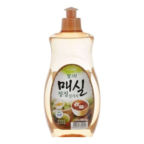 "LION Средство для мытья посуды, овощей и фруктов  ""CHAMGREEN"" Японский абрикос, флакон, 480 мл"