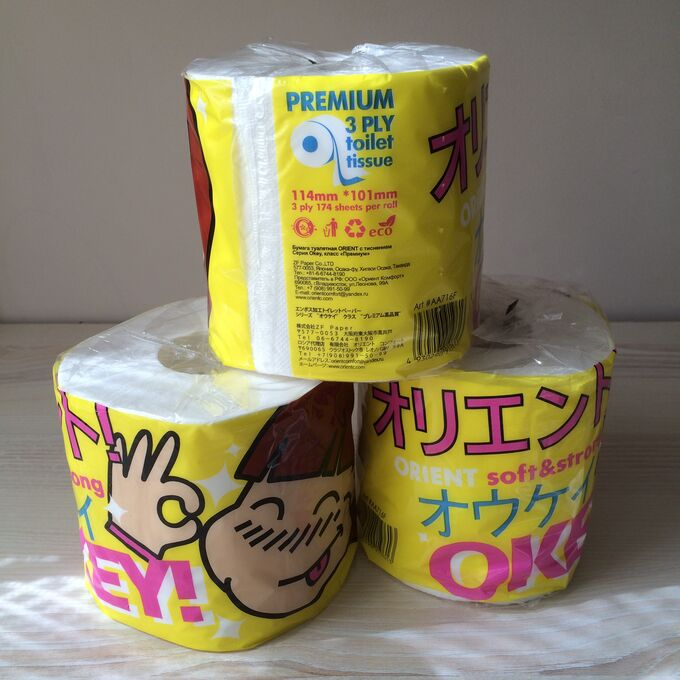 Бумага туалетная в рулонах т.м. «Orient» Серия «OKEY» (Япония)