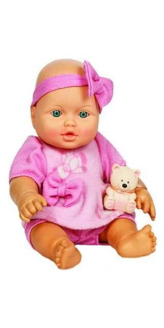 Кукла Малышка с мишуткой, 32,5 см6