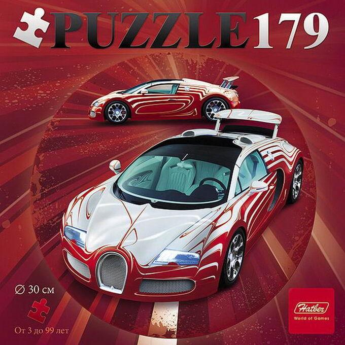 Пазл Hatber круглый 179 элементов формат А4 d300мм Sport car