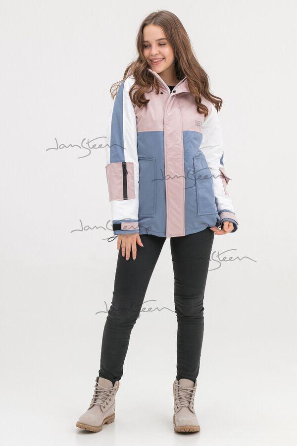 Роза/синийКуртка для девочек, холлофайбер JAN STEEN