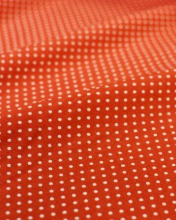 Штапель Пшено на красно-терракотовом, 1.44 м, вискоза-100%, пл.110 гр/м.кв