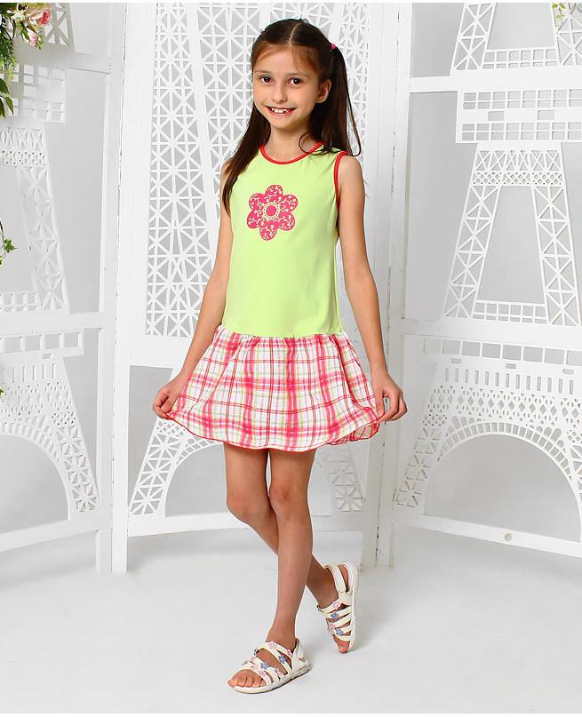 Салатовый сарафан для девочки Цвет: св.салат
