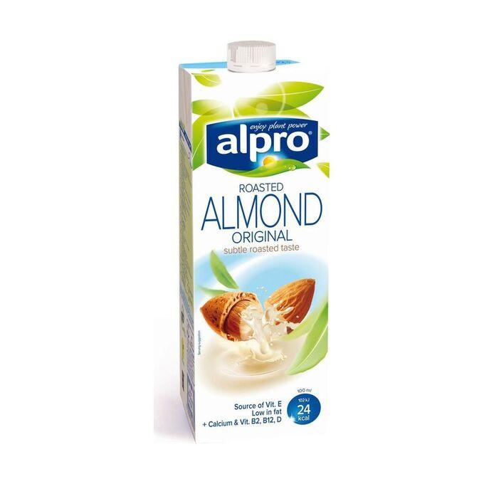 Напиток миндальный обогащенный кальцием и витаминами, тетрапак, Alpro, 1л