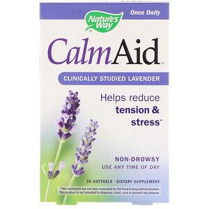 Nature's Way, CalmAid, клинически изученная лаванда, 30 мягких таб.