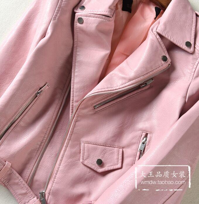Куртка из эко. кожи,розовый